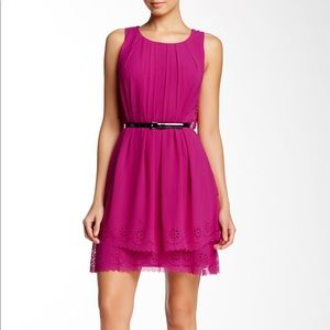 Jessica Simpson Laser-cut Tiered Dress